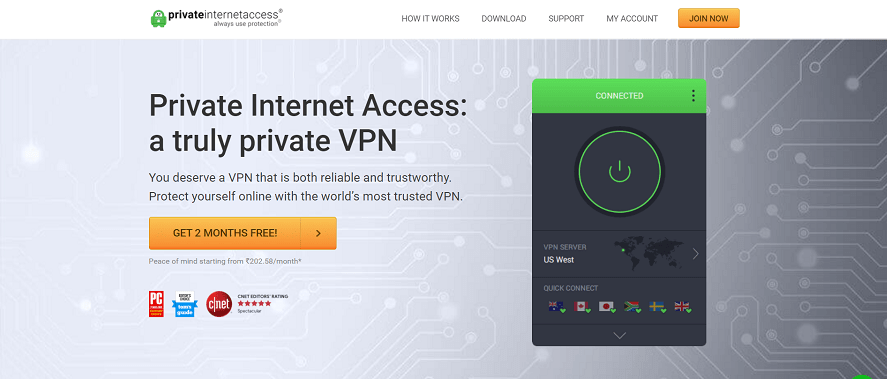 private internet access free trial