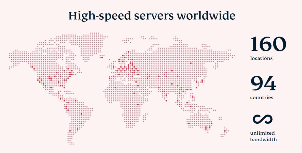 High-speed servers worldwide