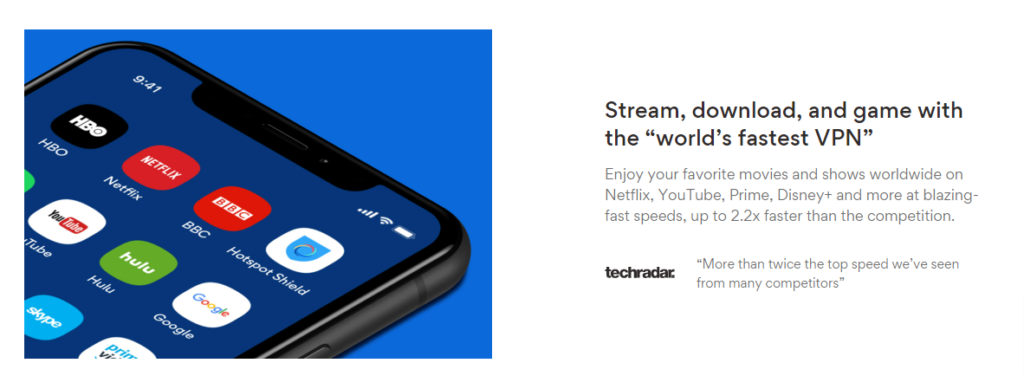 """Stream, download, and game with the """"world's fastest VPN"""""""